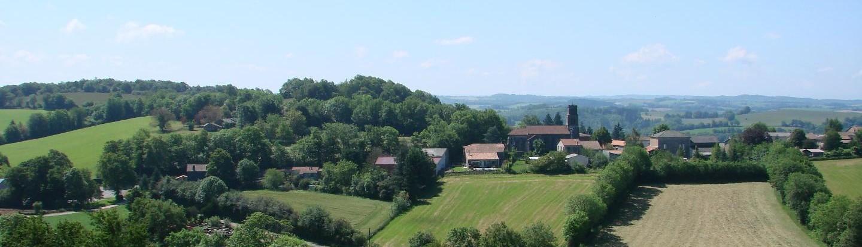 Le village vu du site du Calvaire