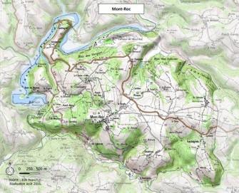Carte Mont-Roc ©CCMAV